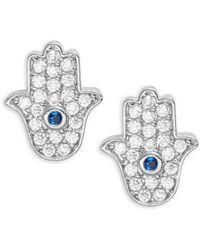 Tai - Pave Hamsa Stud Earrings - Lyst