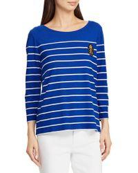 Lauren by Ralph Lauren - Petite Petite Striped Jersey Top - Lyst