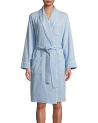 Lord & Taylor - Cotton-blend Waffle Robe - Lyst