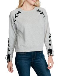 Jessica Simpson - Kiana Lace-up Sweatshirt - Lyst