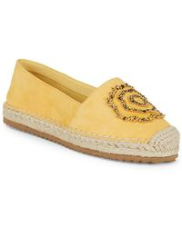 Karl Lagerfeld - Abby Embellished Leather Espadrilles - Lyst