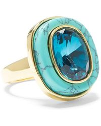 Vince Camuto Blue Ombre Crystal Statement Ring