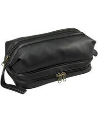 Dopp - Jumbo Framed Faux Leather Travel Kit - Lyst