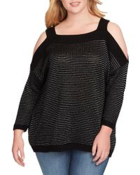 538db18a351 Lyst - Jessica Simpson Plus Size Amber Keyhole-Back Sweater in Gray