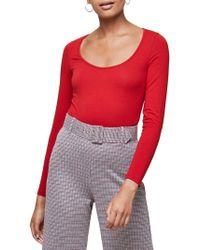 Miss Selfridge - Classic Long-sleeve Bodysuit - Lyst