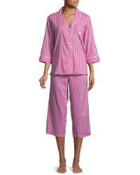 Lauren by Ralph Lauren - Plus Two-piece Floral Pyjama Set - Lyst