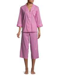 Lauren by Ralph Lauren - Plus Two-piece Floral Pajama Set - Lyst