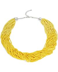 Lord & Taylor - Multi-row Beaded Necklace - Lyst