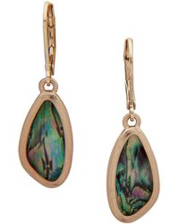 Lonna & Lilly - Faceted Leverback Drop Earrings - Lyst