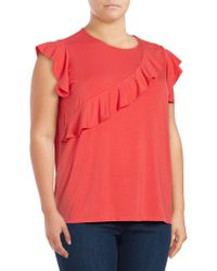 Lord & Taylor - Ruffle Cap Sleeve Blouse - Lyst