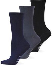 Hot Sox - Solid Trouser Three Pack Socks - Lyst