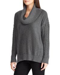 Lauren by Ralph Lauren Relaxed-fit Cotton Cowlneck Sweater