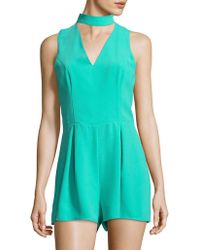 Lord & Taylor | Pleated Choker Romper | Lyst
