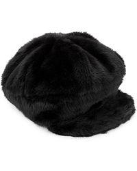 Steve Madden - Faux Fur Baker Hat - Lyst