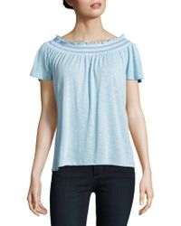 Lord & Taylor - Petite Smocked Top - Lyst