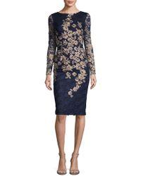 aac01e5ec43 Xscape - Petite Embroidered Lace Sheath Dress - Lyst