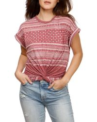 Lucky Brand - Allover Printed Top - Lyst