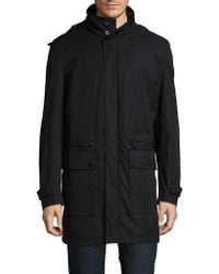 Strellson - Hooded Stand Collar Coat - Lyst