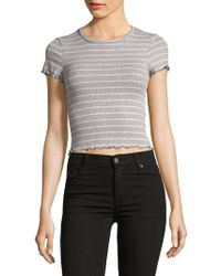 Lord & Taylor - Ribbed Cropped Top - Lyst