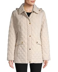 Jones New York - Quilted Long-sleeve Jacket - Lyst