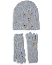 BCBGMAXAZRIA - Two-piece Bee Beanie And Gloves Set - Lyst