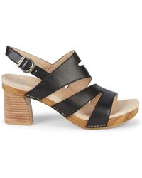 Dansko - Ashlee Leather Heeled Sandals - Lyst