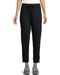 Lord & Taylor - Cropped Cotton Jogger Pants - Lyst