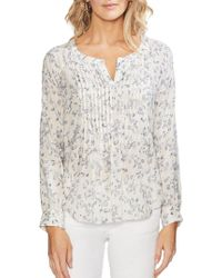 Vince Camuto - Ethereal Dawn Floral-print Long-sleeve Blouse - Lyst