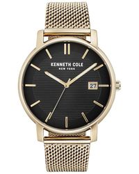 Kenneth Cole - Classic Stainless Steel Mesh Bracelet Watch - Lyst