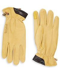 Timberland - Seabrook Leather And Suede Gloves - Lyst