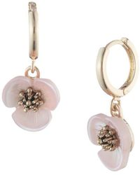 Lonna & Lilly - Mother-of-pearl Flower Drop Earrings - Lyst