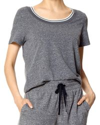 Hue - Tonal Stitched Jersey Tee - Lyst