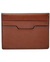 Fossil - Ellis Magnetic Leather Card Case - Lyst