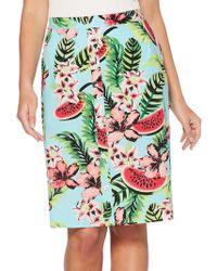 Rafaella - Floral And Fruit-print Skirt - Lyst