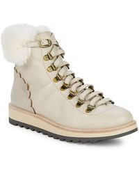 Kate Spade - Women's Maira Round Toe Leather & Suede Booties - Lyst
