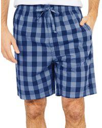 Nautica - Buffalo Plaid Cotton Sleep Shorts - Lyst