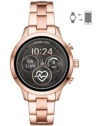 2f79c416b7e4 Michael Kors - Runway Access Stainless Steel Touchscreen Bracelet Smart  Watch - Lyst