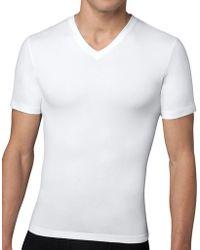Spanx - Compression V-neck T-shirt - Lyst