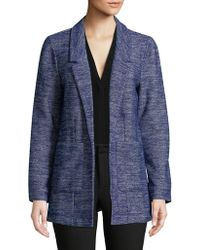 Lord & Taylor - Open Front Blazer - Lyst