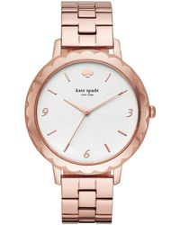 Kate Spade - Metro Scallop Three-hand Rose Gold-tone Stainless Steel Watch - Lyst