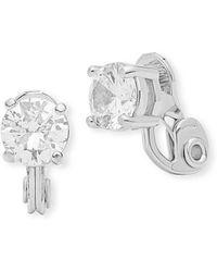 Anne Klein - Cubic Zirconia Studded Earrings - Lyst
