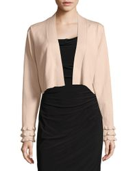 CALVIN KLEIN 205W39NYC - Open Front Cropped Cardigan - Lyst