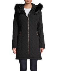 Ivanka Trump - Faux Fur-trimmed Quilted Jacket - Lyst