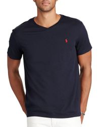 Polo Ralph Lauren | Cotton Jersey V-neck Tee | Lyst