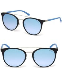 a82275580a824 Guess - 56mm Round Brow-bar Sunglasses - Lyst