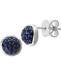 Effy - Sterling Silver & Sapphire Stud Earrings - Lyst