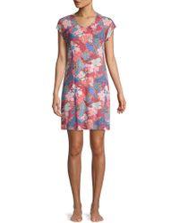 Sesoire Floral-print Sleepshirt - Multicolour