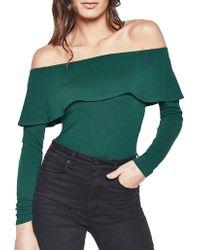 Bardot | Ruffle Long Sleeve Bodysuit | Lyst