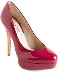Kors by Michael Kors - Cyprien Patent Leather Cork Heel Court Shoes - Lyst