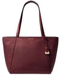 7e60085f8d5ac MICHAEL Michael Kors - Large Whitney Leather Tote - Lyst